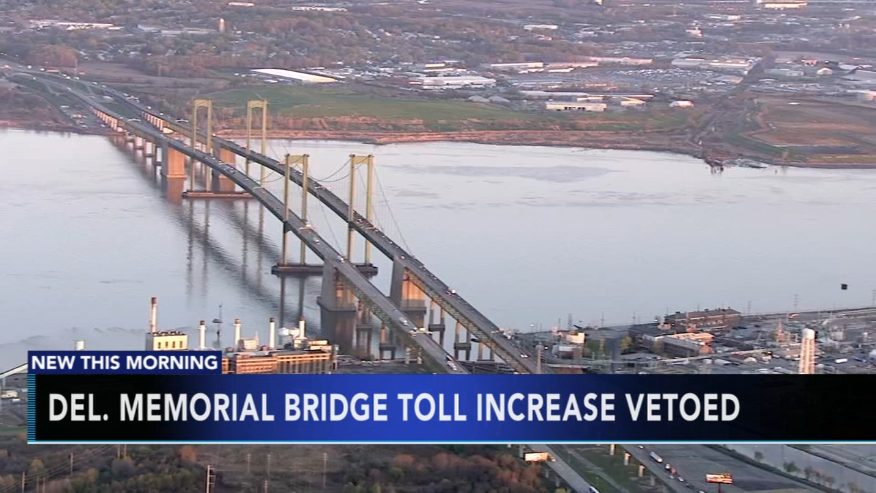 Delaware Memorial Bridge toll increase vetoed. Tamala Edwards reports during Action News Mornings on January 4, 2019.