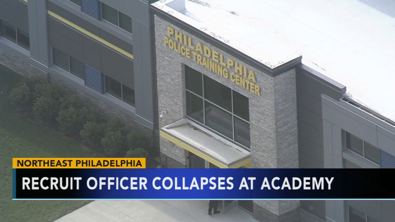 Philadelphia police recruit officer collapses, taken to hospital. Watch this report from Action News at 4pm on January 4 2019.