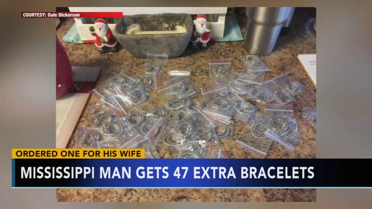 Man orders diamond bracelet for wife, receives 48 of them. Nydia Han reports during Action News at 7 a.m. on January 6, 2019.