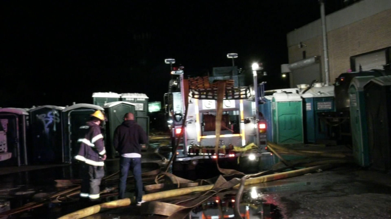 Fire burns through portable toilet company. Tamala Edwards reports during Action News Mornings on January 7, 2019.