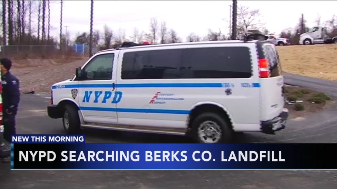 NYPD searching Berks County landfill. Tamala Edwards reports during Action News Mornings on January 8, 2019.