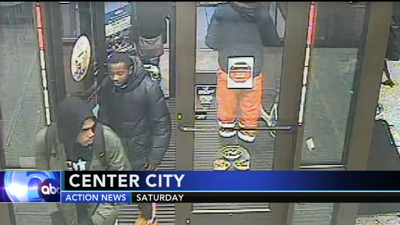 Police: 2 men sought for robbing man at ATM in Center City. Rick Williams reports during Action News at 12 p.m. on January 9, 2019.