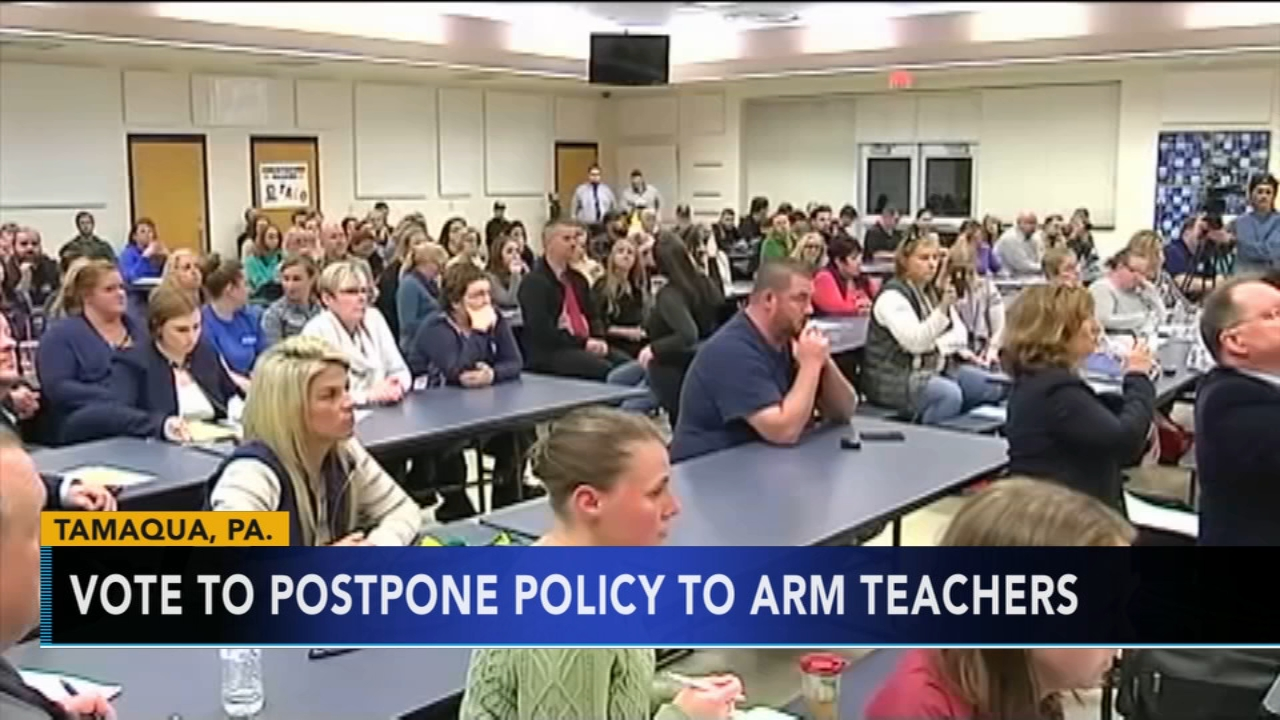 Officials vote to postpone policy to arm teachers. Rick Williams reports during Action News at 12:30 p.m. on January 10, 2019.