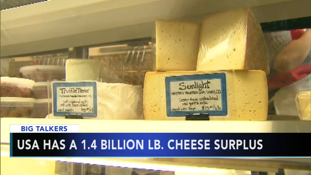 USA faces 1.4 billion pound cheese surplus. Alicia Vitarelli reports during Action News at 4 p.m. on January 10, 2019.