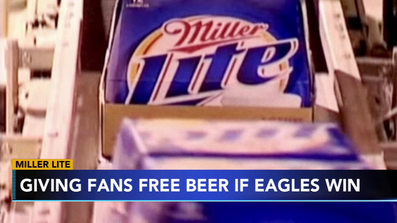 Miller Lite offering Eagles fans free beer. Katherine Scott reports during Action News Mornings on January 11, 2019.