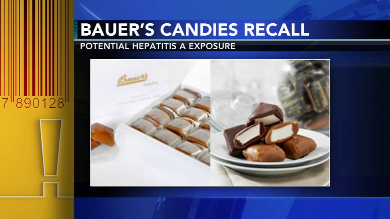 Bauers Candies recalled due to possible exposure to Hepatitis A. Gray Hall reports during Action News at 7 a.m. on January 12, 2019.
