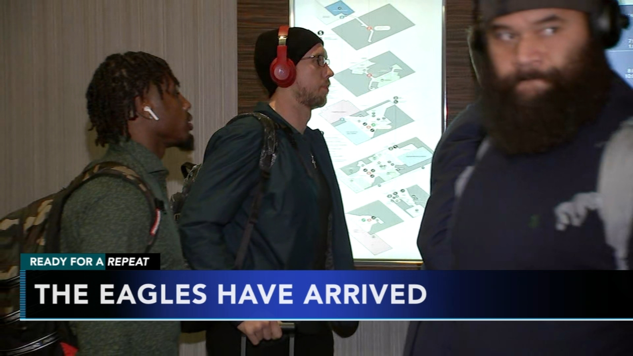 Philadelphia Eagles land in New Orleans for Saints game. Ducis Rodgers and Jamie Apody report on the team during Action News at 6 p.m. on January 12, 2019.