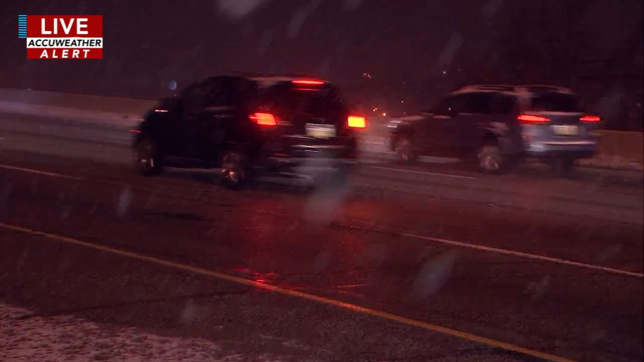 PennDOT is ready for the snow falling in the Delaware Valley. Maggie Kent reports during Action News at 11 p.m. on January 12, 2019.