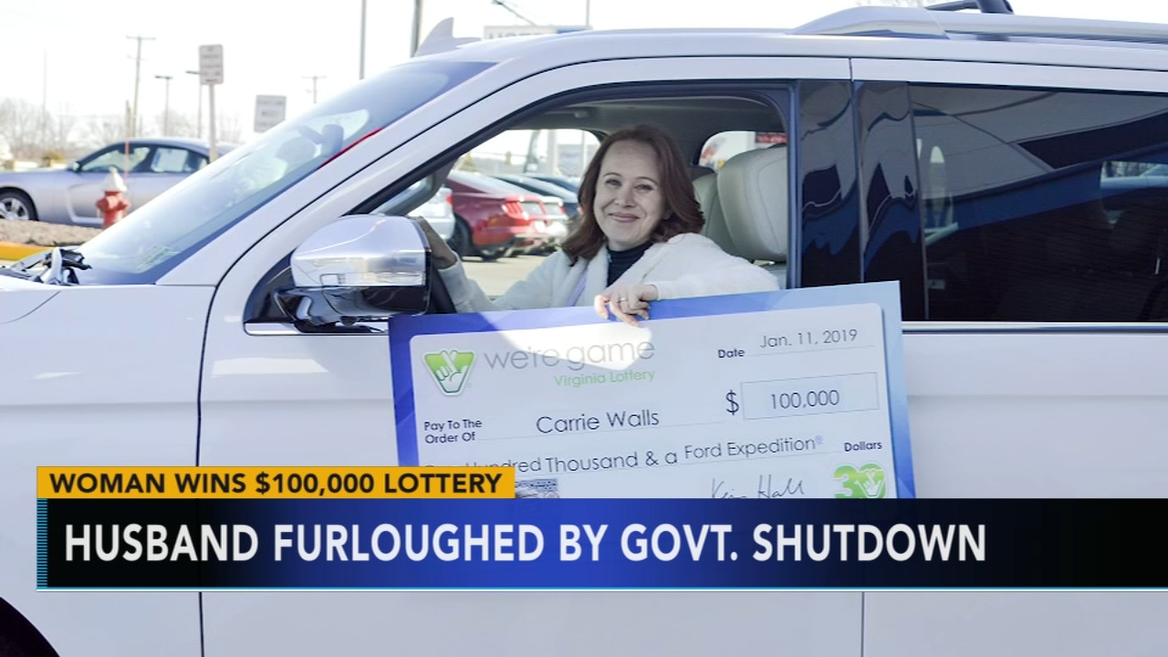 Wife of furloughed government worker wins $100,000 and SUV in lottery. Watch this report from Action News Mornings on January 13, 2019.
