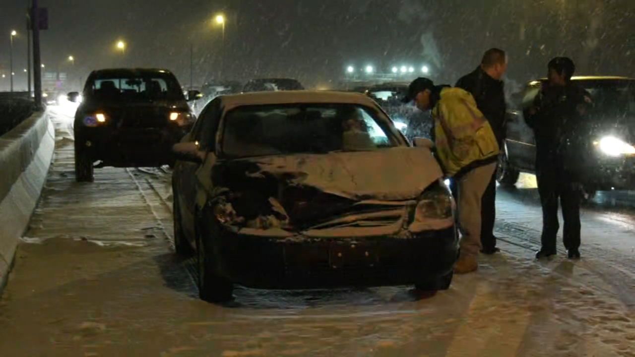 Several overnight crashes blamed on snowy conditions. Watch this report from Action News Mornings on January 13, 2019.