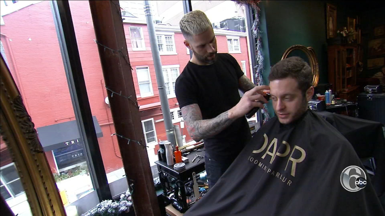 Theres a new salon in Rittenhouse Square devoted just to the fellas, Chris Sowers takes us there.