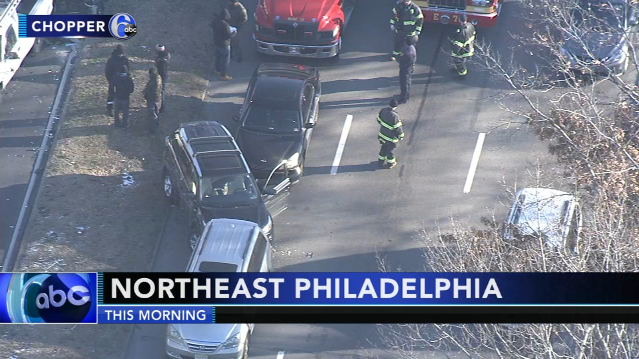 Police investigate 7-car crash in Northeast Philadelphia. Rick Williams reports during Action News at 4:30 p.m. on January 15, 2019.