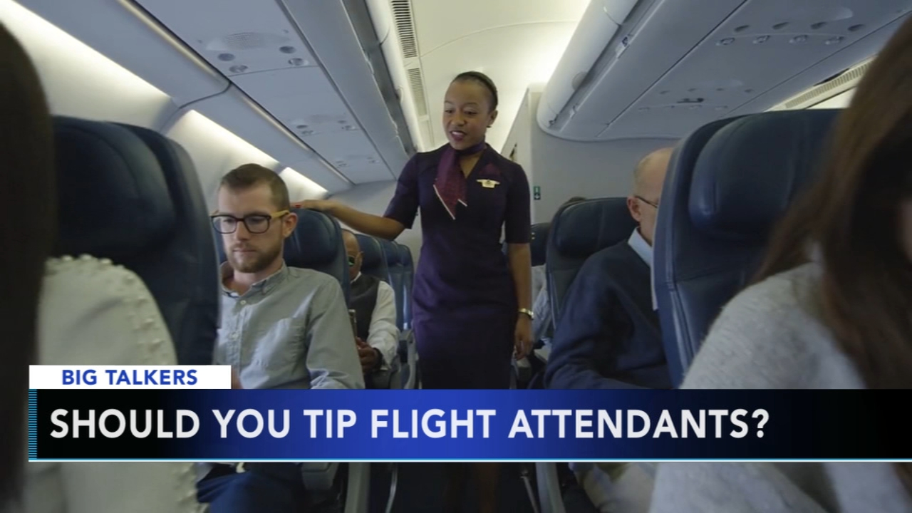 Should you tip flight attendants? Alicia Vitarelli reports on Action News at 6 p.m., January 15, 2019