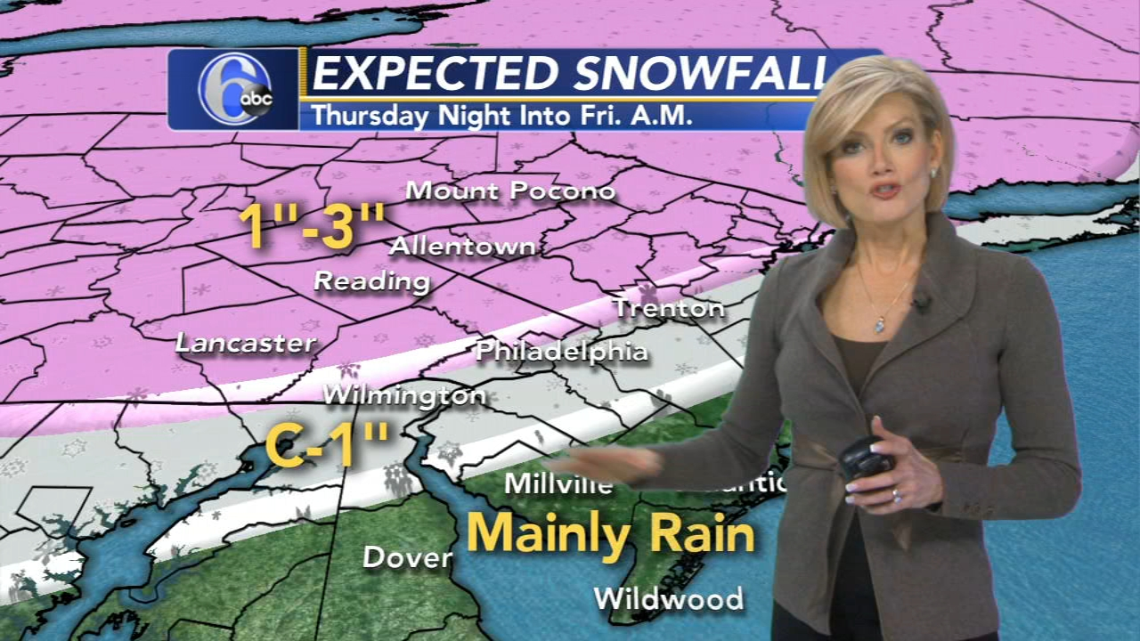Cecily Tynan reports on AccuWeather during Action News at 6 p.m. on January 16, 2019.