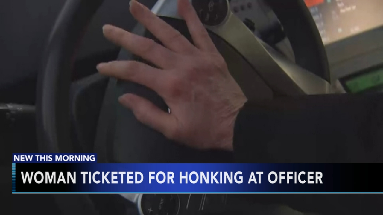 Woman ticketed for honking at officer. Tamala Edwards reports during Action News Mornings on January 16, 2019.