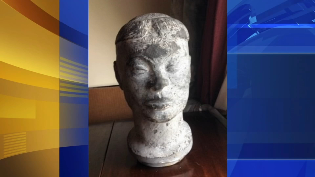 Missing Nathaniel Choate sculpture in Cherry Hill. Matt ODonnell reports during Action News Mornings on January 16, 2019.