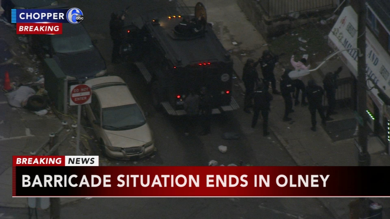 Police report barricade situation in Olney, as seen on Action News at 5 p.m., January 16, 2019