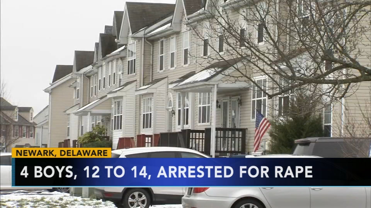 4 boys, ages 12 to 14, arrested for rape in Delaware. Watch the report from Action News at 4:30 p.m. on January 18, 2019.