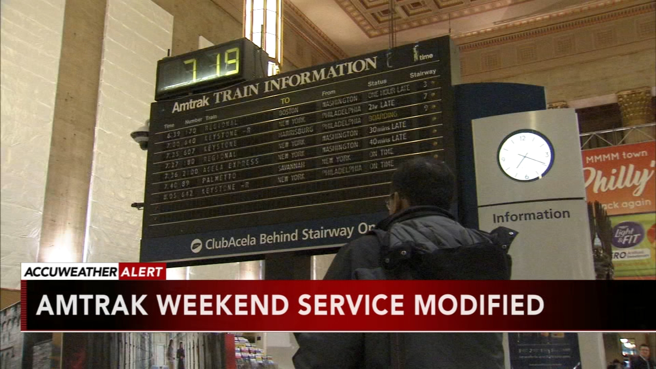 Amtrak weekend service modified. Tamala Edwards reports during Action News Mornings on January 18, 2019.