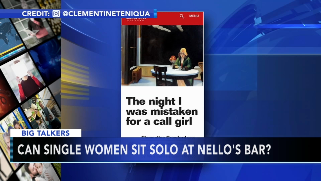 A British marketing executive says she was told she could not sit by herself at the bar at Nello in Manhattan.