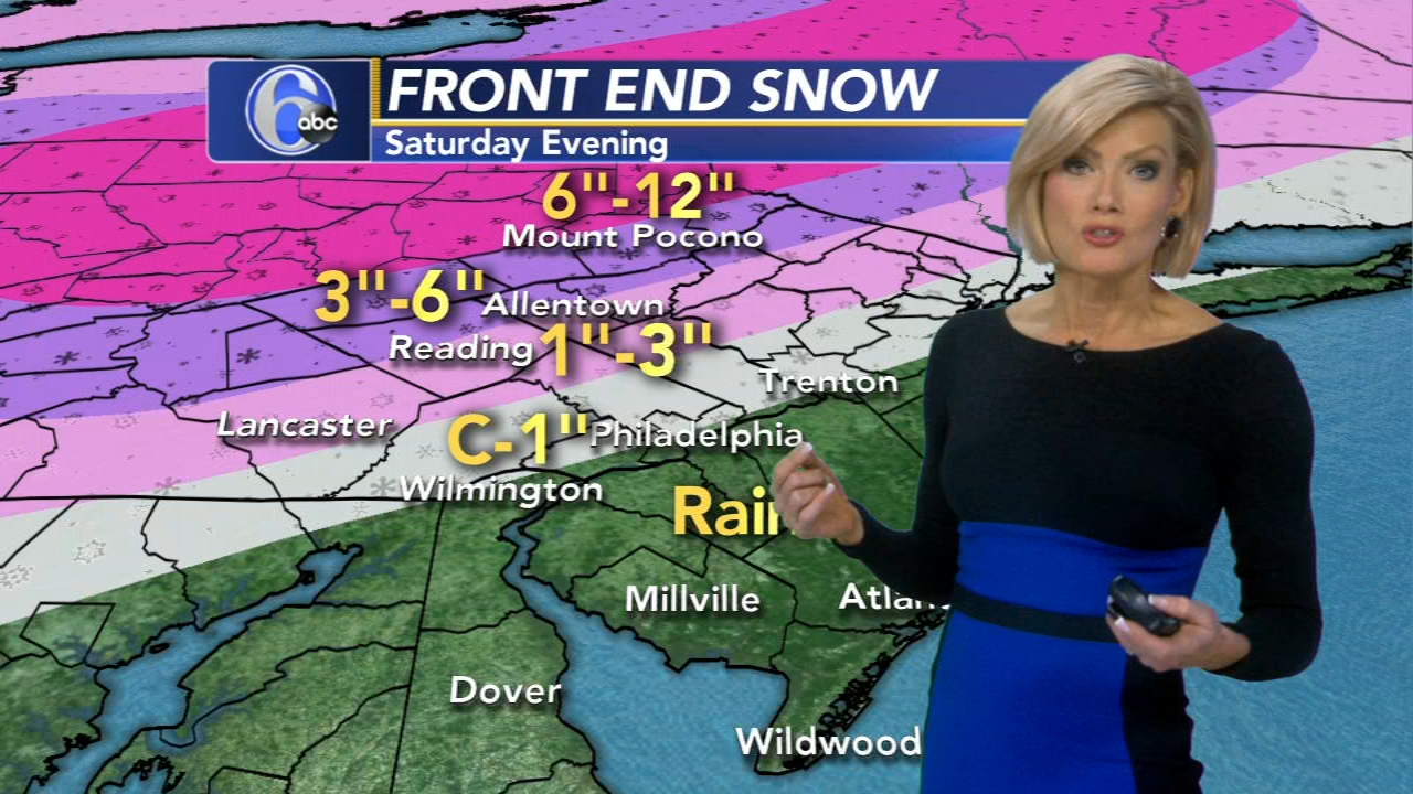 Cecily Tynan reports on AccuWeather during Action News at 11 p.m. on January 18, 2019.