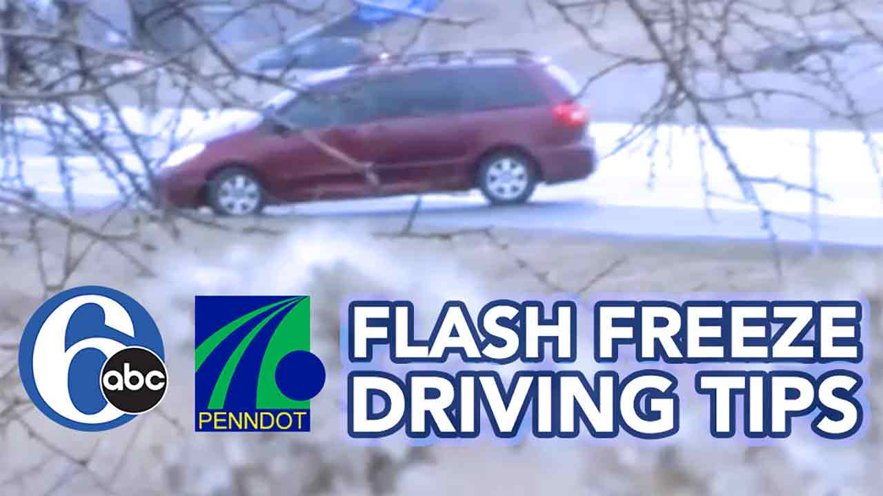 Tips on driving through a flash freeze
