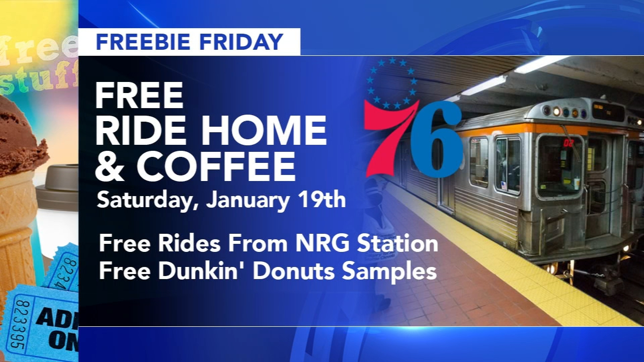 Freebie Friday: Dunkin samples, rides home from NRG Station, MLK Day activities. Action News reports at 4 p.m. on January 18, 2019.