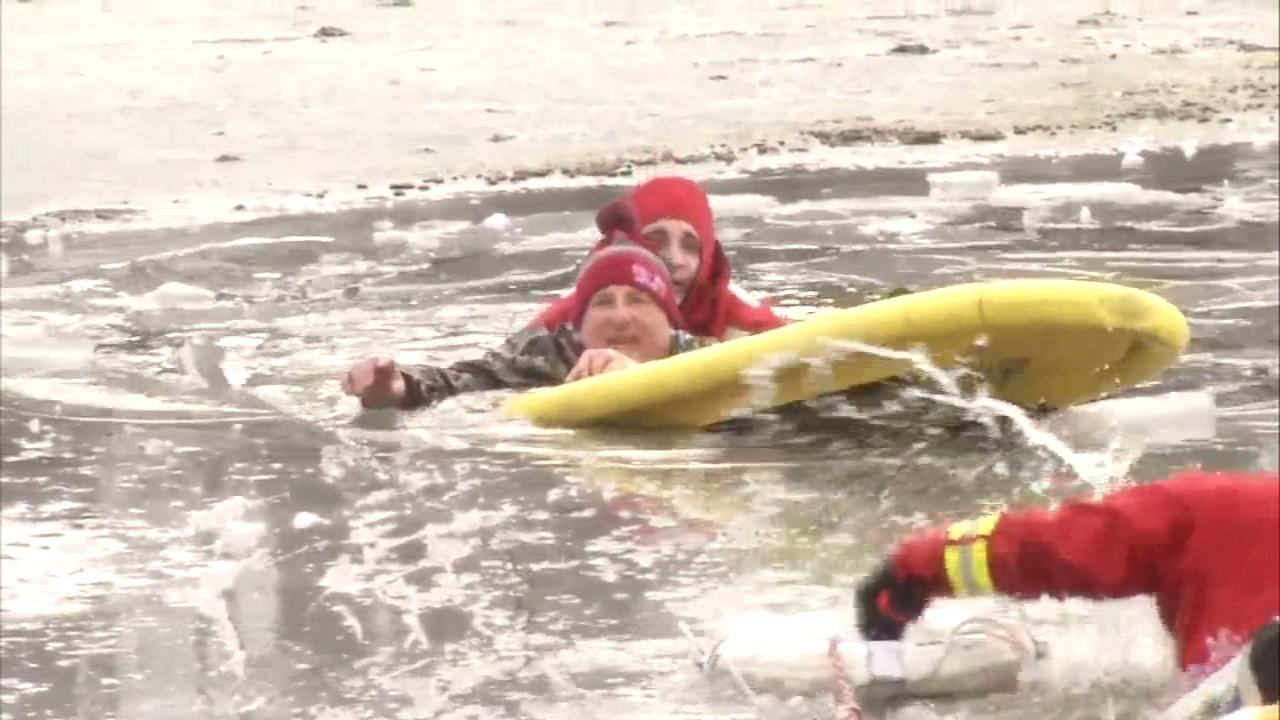Surface Water Rescue members say a man is lucky to be alive Friday night as reported by Dann Cuellar during Action News at 11 on January 18, 2019.