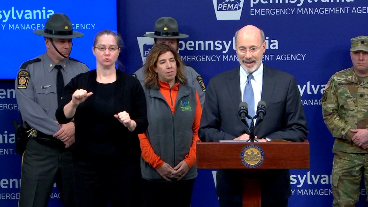 Gov. Tom Wolf declares State of Emergency for Pa. Watch the report from Action News at 4 p.m. on January 18, 2019.