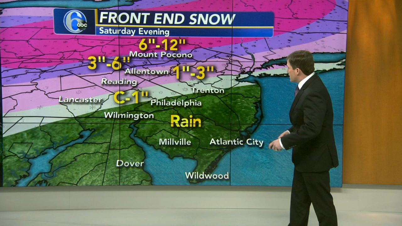 Chris Sowers with AccuWeather during Action News at 9 a.m. on January 19, 2019.