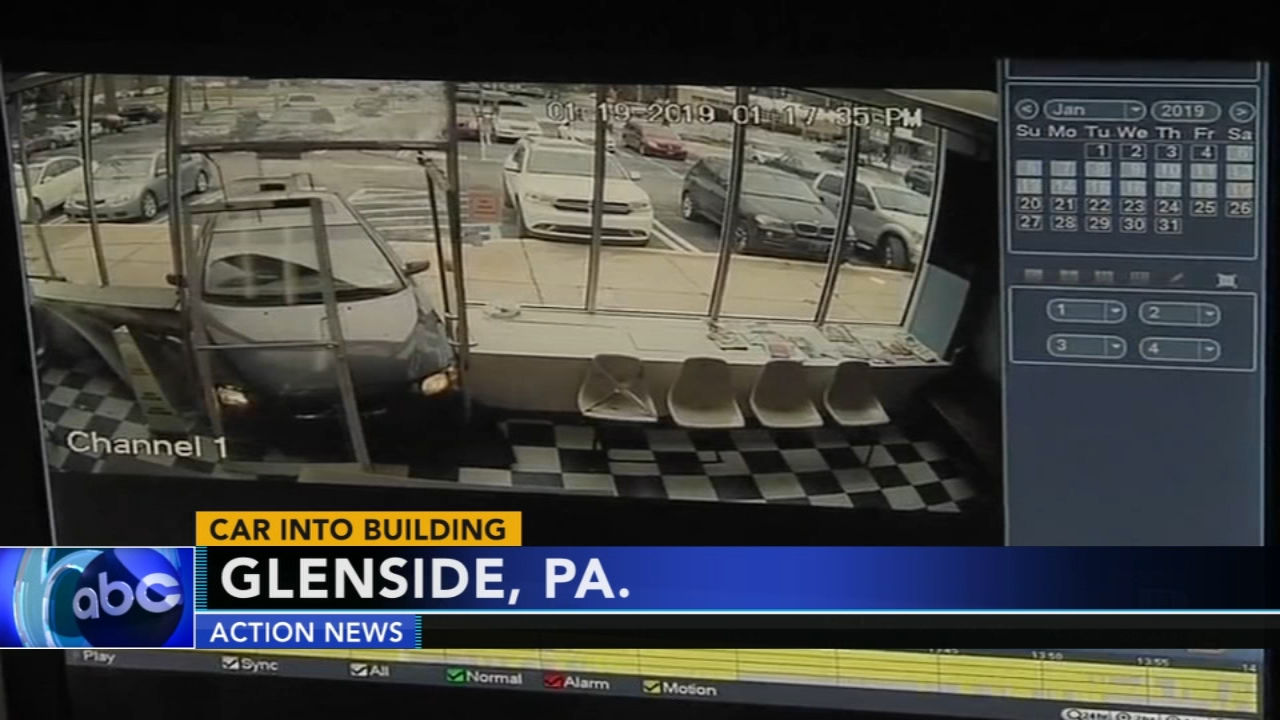 Driver crashes car into laundromat in Glenside. Walter Perez reports during Action News at 6 p.m. on January 19, 2019.
