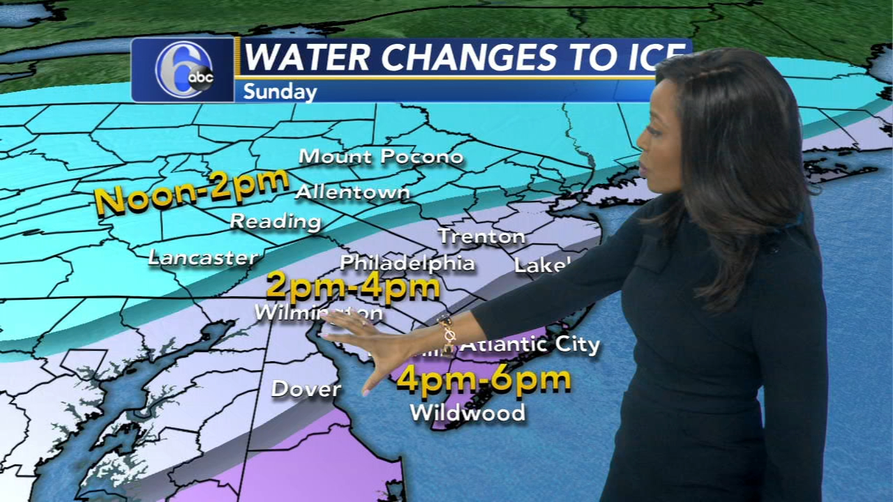 Melissa Magee reports on AccuWeather during Action News at 11 p.m. on January 19, 2019.