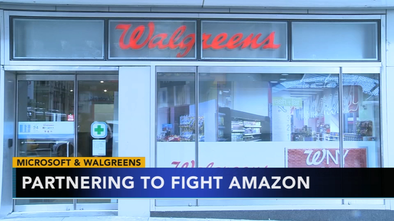 Microsoft announces partnership with Walgreens to compete with Amazon in health care business. Christie Ileto reports during Action News at 6 a.m. on January 19, 2019.