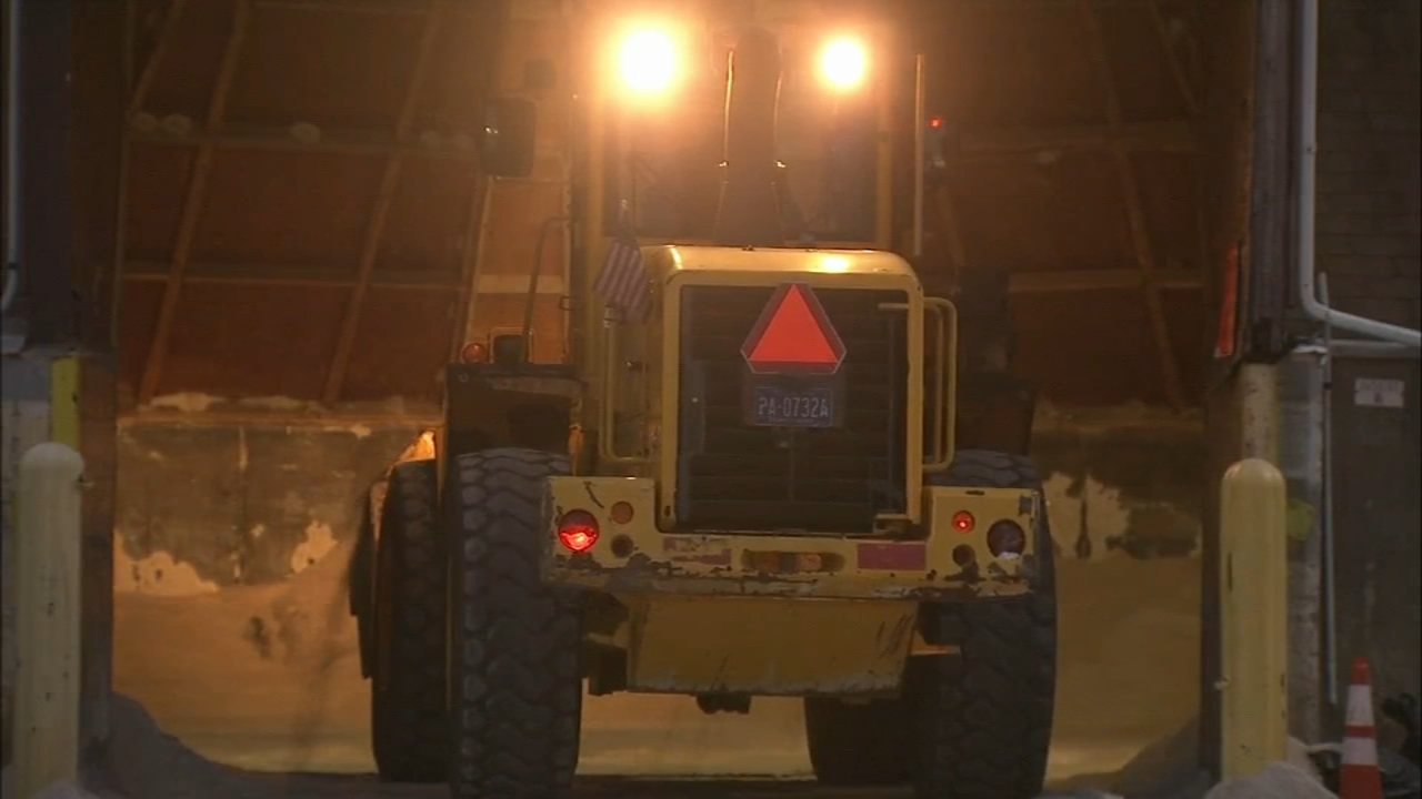 PennDOT crews get roads ready for rain and ice. Katie Katro reports during Action News at 11:30 p.m. on January 19, 2019.