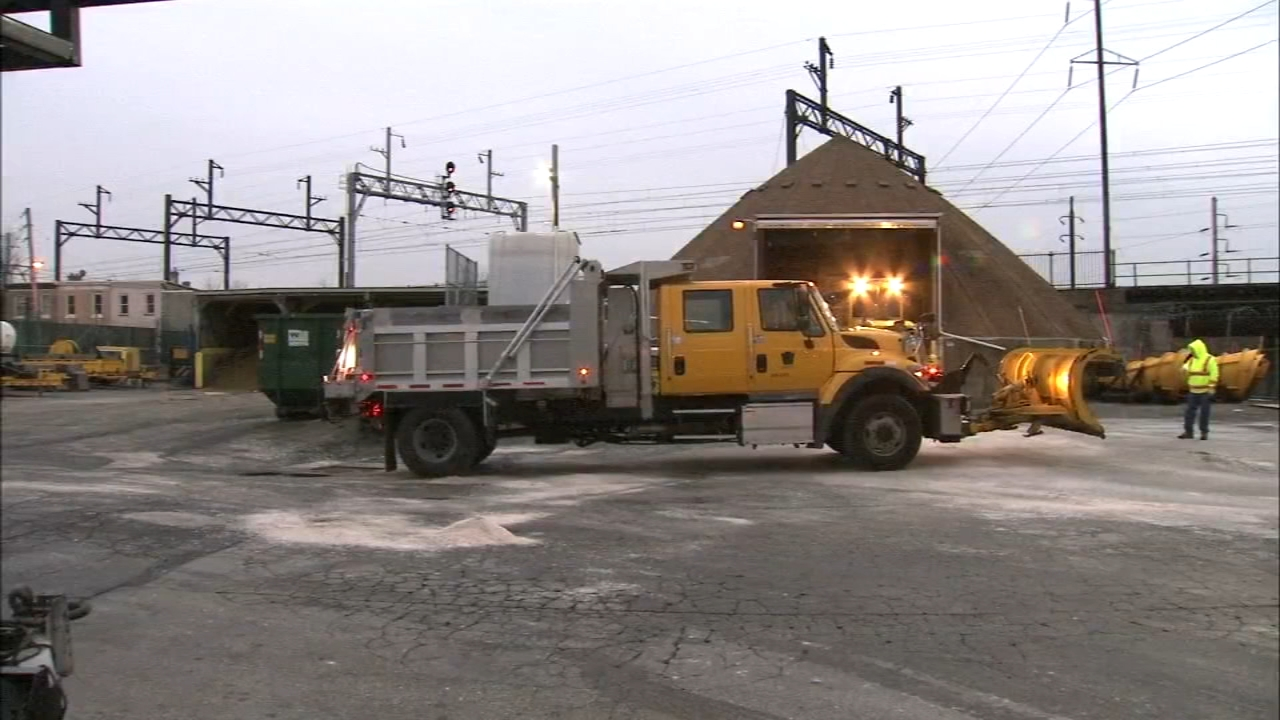 PennDOT crews get roads ready for rain and ice. Katie Katro reports during Action News at 6 p.m. on January 19, 2019.