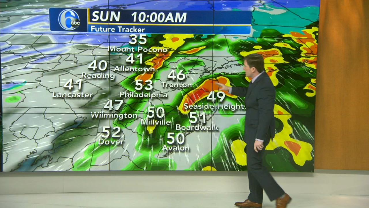 Chris Sowers with AccuWeather during Action News at 6 a.m. on January 20, 2019.