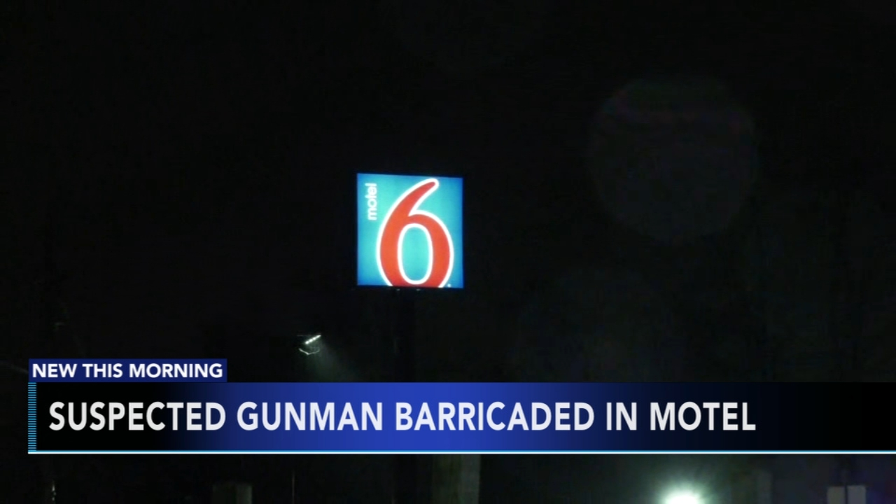 Shooting suspect barricaded in Brooklawn motel. Gray Hall reports during Action News at 6 a.m. on January 20, 2019.