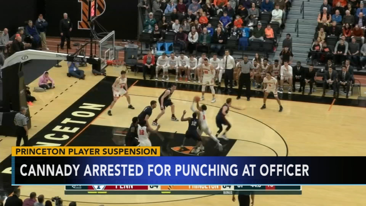 Princetons Cannady suspended after swinging at campus cop. Gray Hall reports during Action News at 9 a.m. on January 20, 2019.