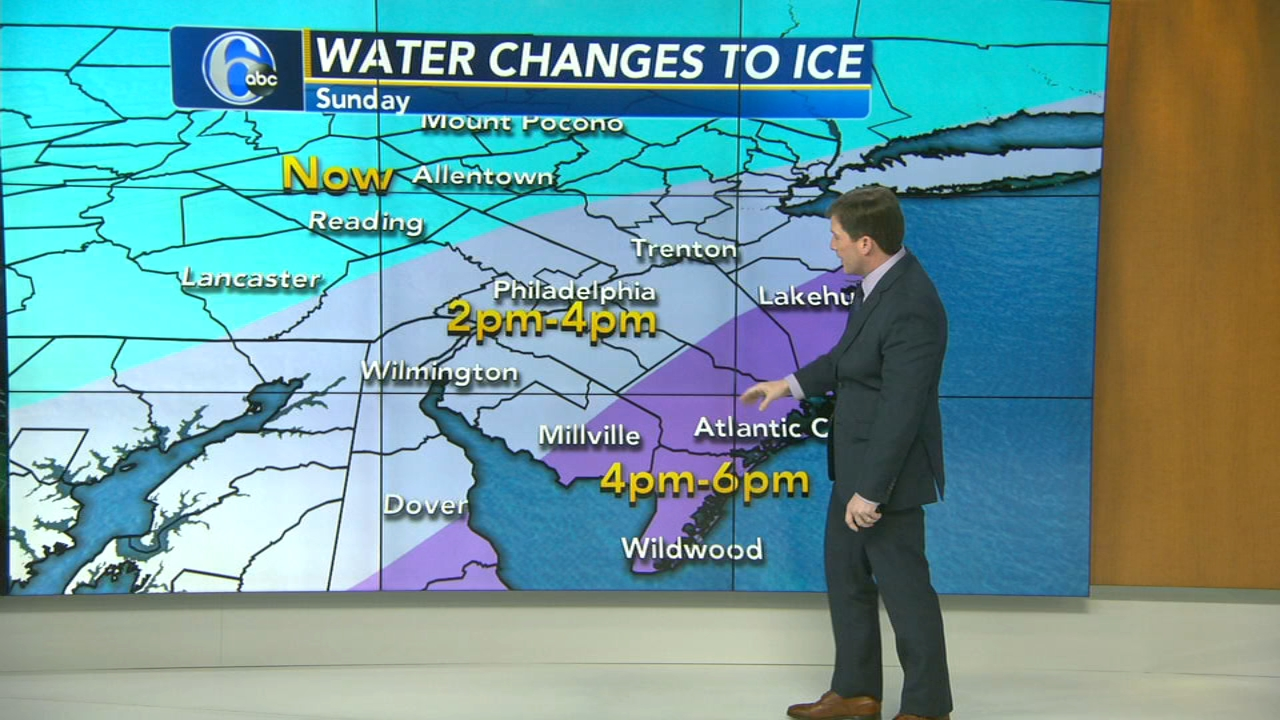 Chris Sowers with AccuWeather during Action News at noon on January 20, 2019.