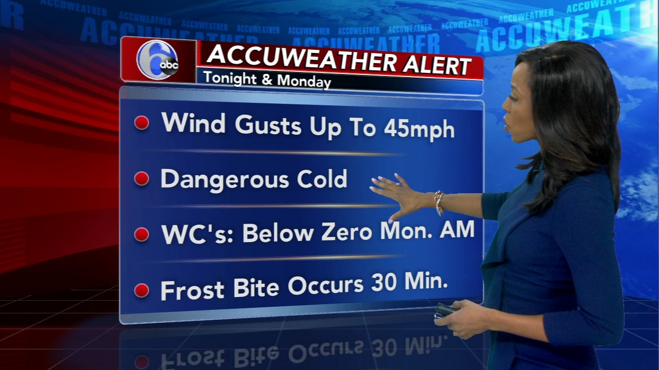 Melissa Magee with AccuWeather on Action News at 11 p.m., January 20, 2019
