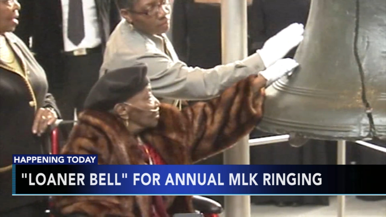 Loaner Bell for annual MLK Day ringing. Tamala Edwards reports during Action News Mornings on January 21, 2019.