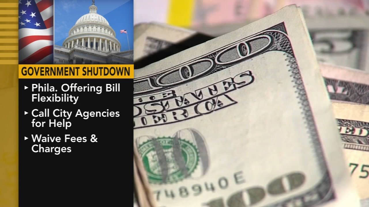 Philly offering bill flexibility to federal workers during shutdown. Watch the report Action News at 4 p.m. on January 21, 2019.