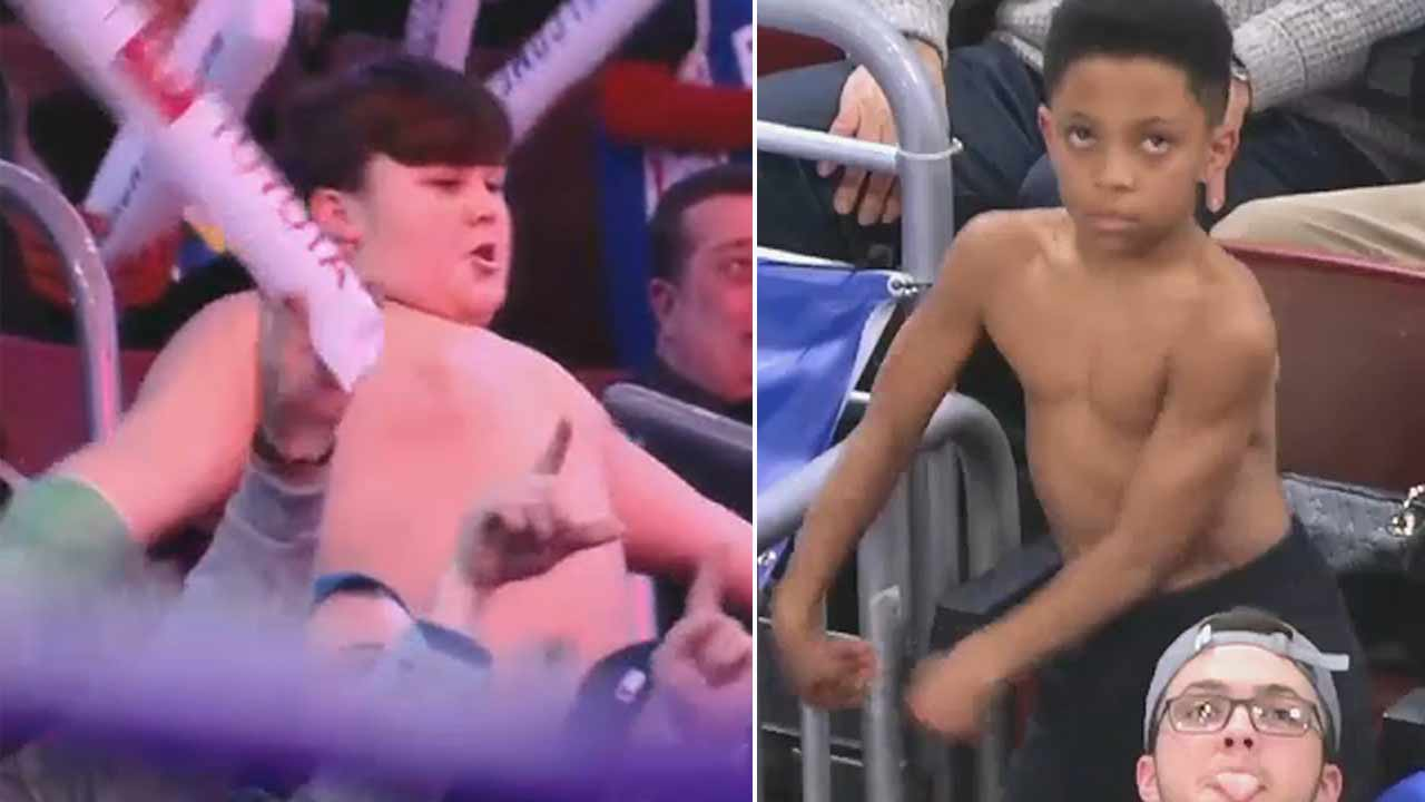 Boys epic dance battle at Sixers game goes viral