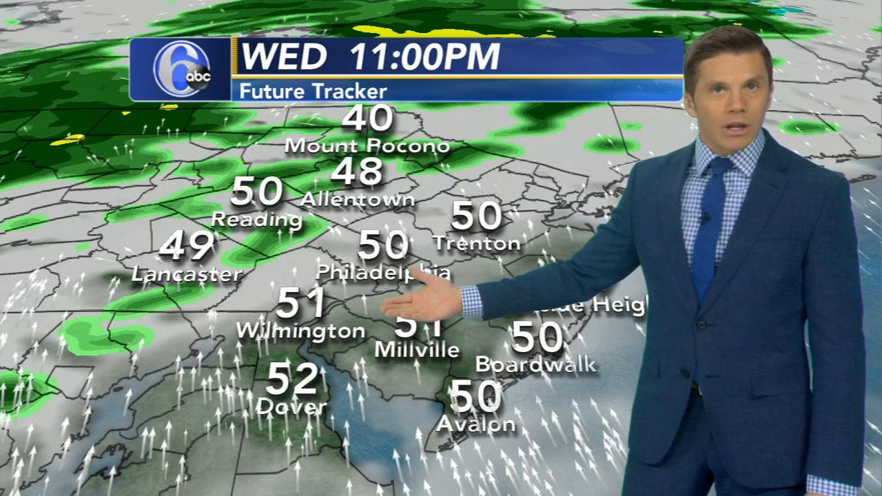 Adam Joseph reports on AccuWeather during Action News at 6 p.m. on January 23, 2019.