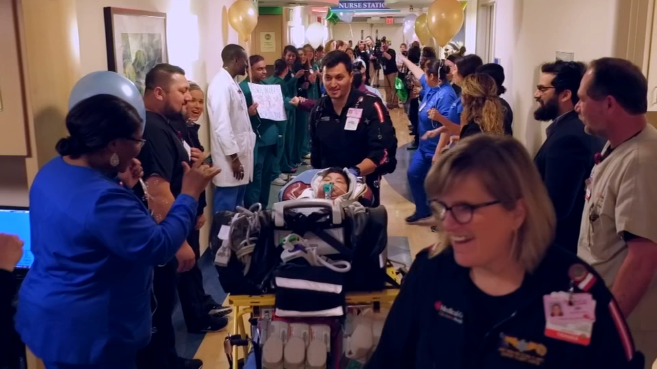 It was a bittersweet goodbye for a little boy whos spent his entire life in a Texas hospital.