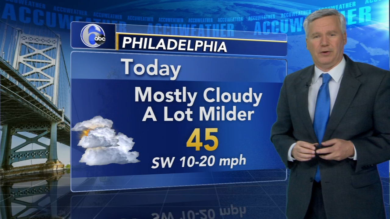 David Murphy with AccuWeather during Action News at noon on January 23, 2019.
