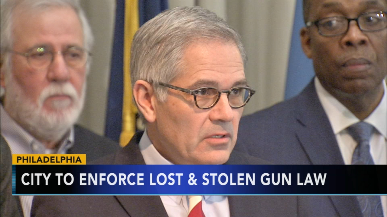 City to enforce lost and stolen gun law: as seen on Action News at 4 p.m., January 23, 2019
