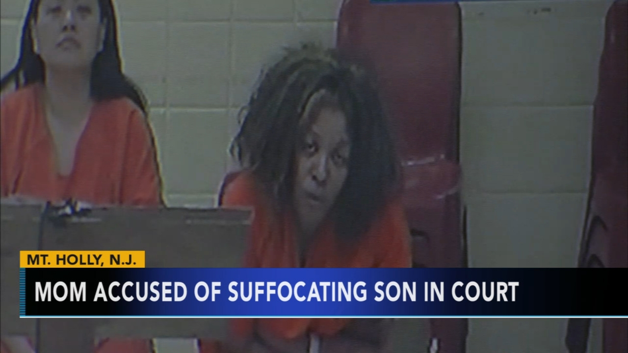 Burlington County mom accused of suffocating son appears in court. Monica Malpass reports during Action News at 4:30 p.m. on January 23, 2019.