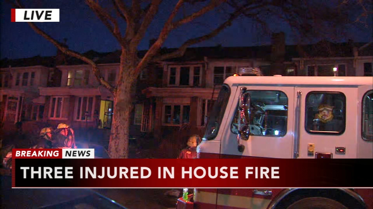 3 injured in West Oak Lane fire. Matt ODonnell reports during Action News Mornings on January 23, 2019.