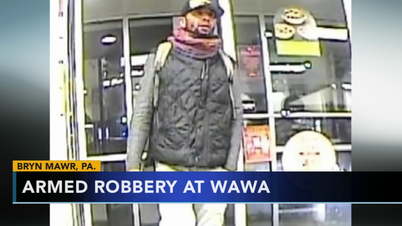 Search for armed suspect in Wawa robbery in Bryn Mawr. Rick Williams reports during Action News at 4 p.m. on January 24, 2019.